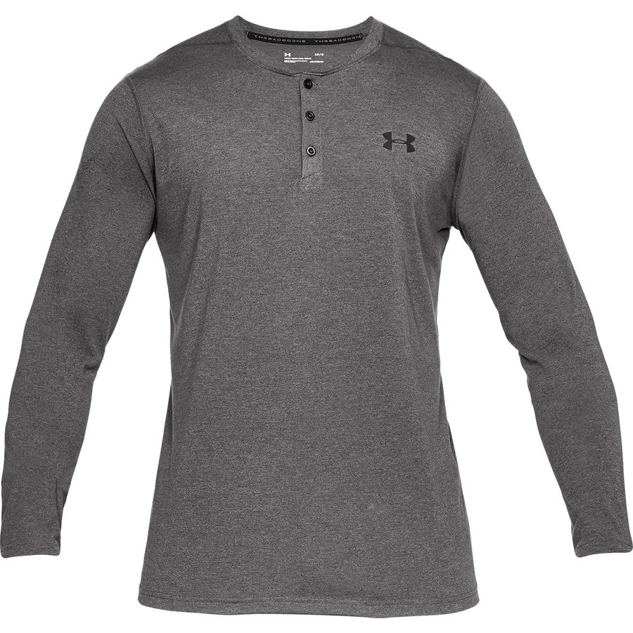 Under Armour Threadborne Long-Sleeve Henley Shirt - Mens