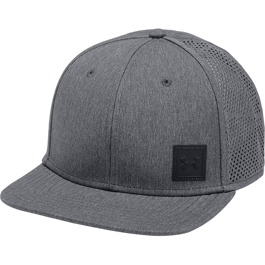 b36b03064570c Under Armour - Supervent Flat Brim 2.0 Snapback Hat - Men s -  Black Overcast Gray