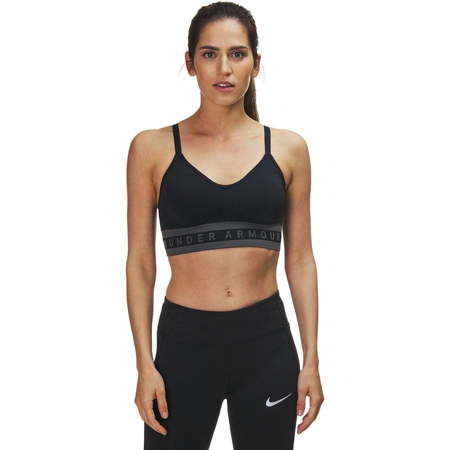 7cadbc3658e43 Under Armour - Seamless Longline Sports Bra - Women s - Black Black Black