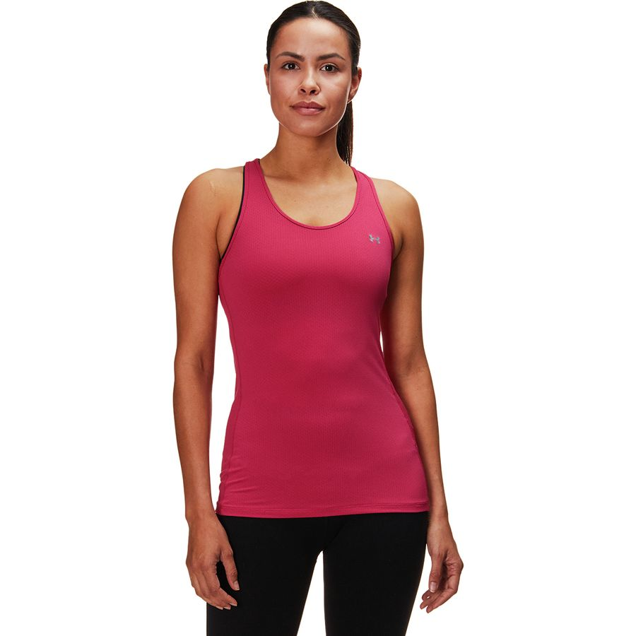 e75ce6ba7bc17 Under Armour - HeatGear Armour Racer Tank Top - Women's - Impulse  Pink/Metallic Silver