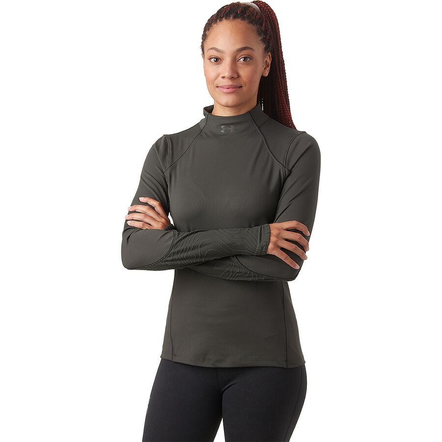 Under Armour Cold Gear Rush Jacquard Mock Top - Womens