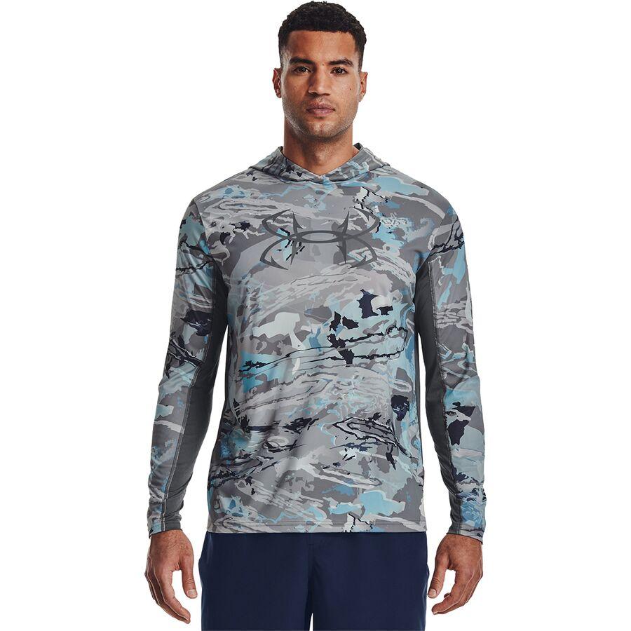 Under Armour Iso-Chill Shorebreak Camo Hooded Shirt - Mens