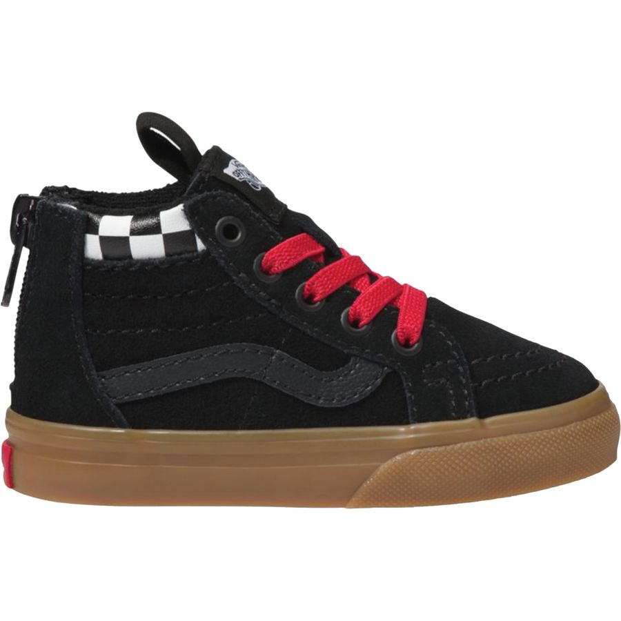 475dfb50d8 Vans - SK8-Hi Zip Skate Shoe - Toddlers  - (mte) Checkerboard