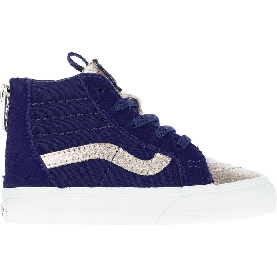584be5f0cc74 Vans - SK8-Hi Zip Skate Shoe - Toddler Girls  - (metallic Toe