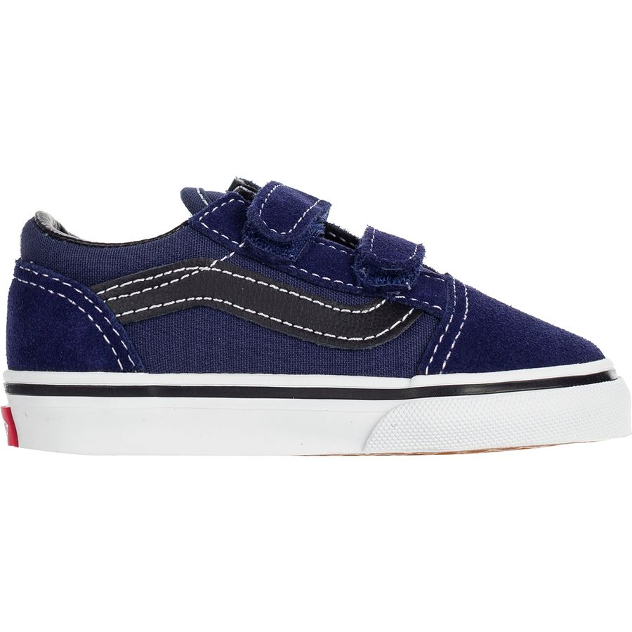 Vans - Old Skool V Skate Shoe - Toddler Boys  - Medieval Blue Black 7b374093d