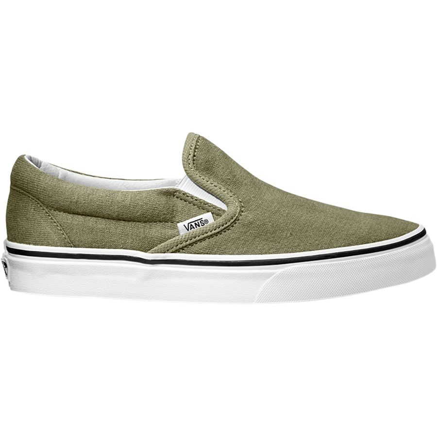 Vans - Classic Slip-On Shoe - Women's - (cotton Hemp) Dusky Green