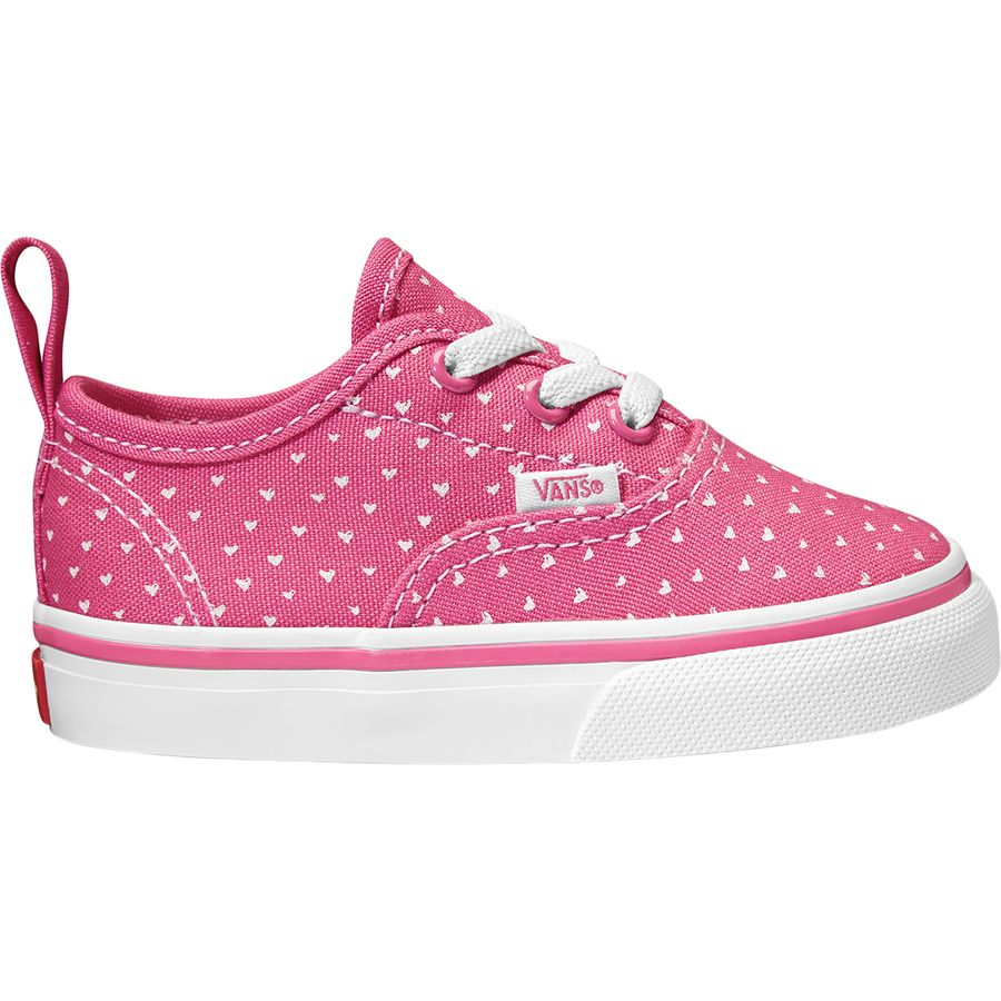 411e0f475b7479 Vans - Authentic Elastic Lace Shoe - Toddler Girls  - (hand Drawn Hearts)