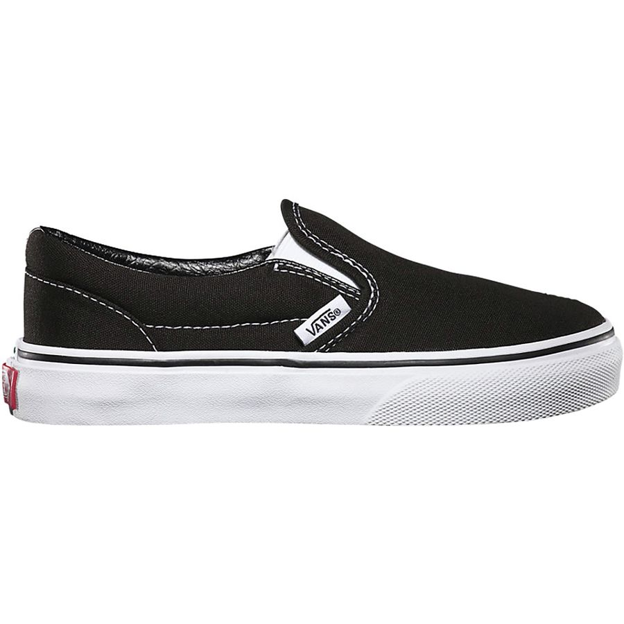 8a469f54c73 Vans - Classic Slip-On Skate Shoe - Kids  - Black True White