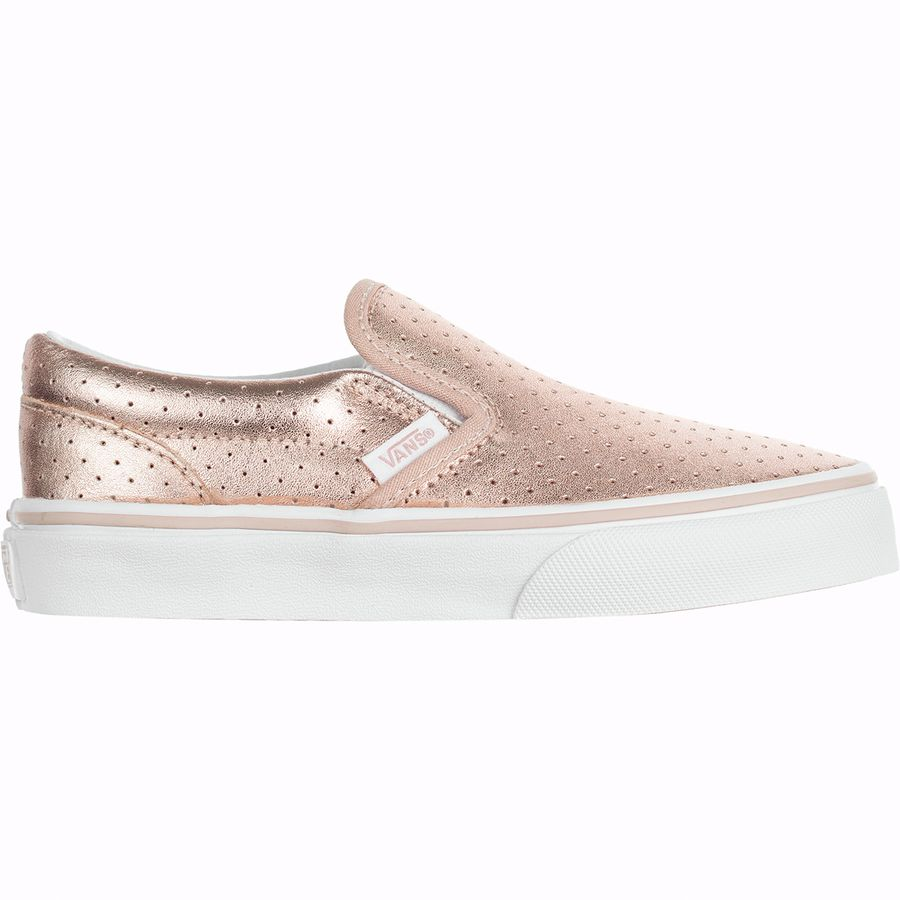 Vans - Classic Slip-On Skate Shoe - Girls  - (perf Leather) c83ae05d0