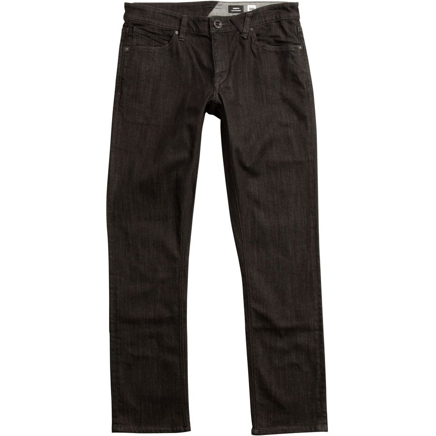 Volcom - Vorta Slim Denim Pants - Men's - Black Rinser