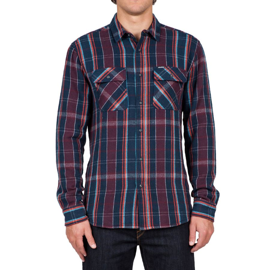Volcom Carter Long Sleeve Flannel Shirt Men 39 S Up To 70