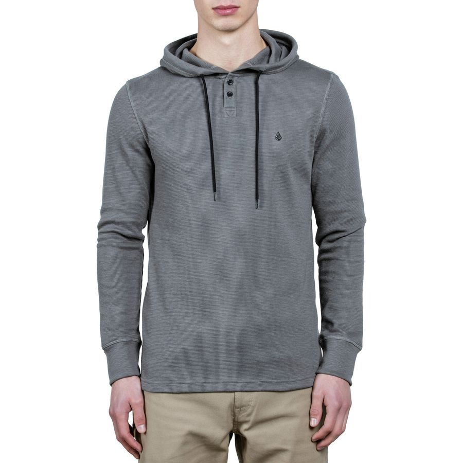 Volcom - Murphy Thermal Pullover Hoodie - Men's - Pewter