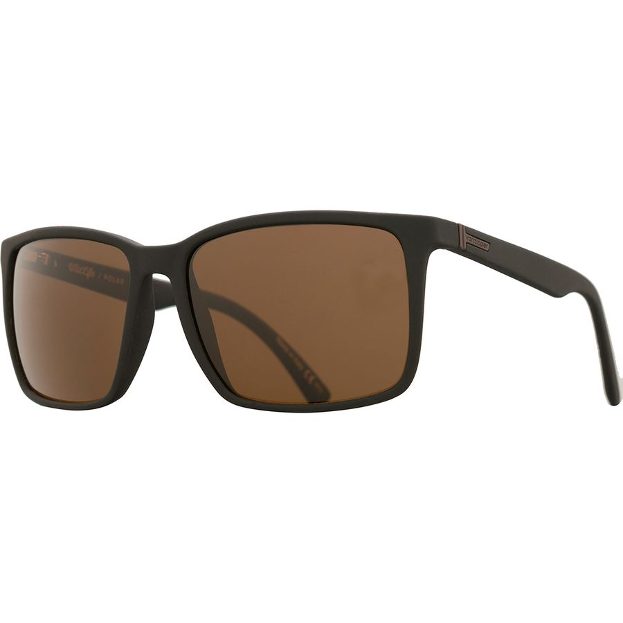 4a1c6694cc6 VonZipper - Lesmore Wildlife Polarized Sunglasses - Black Soft Satin Wild  Bronze Polar