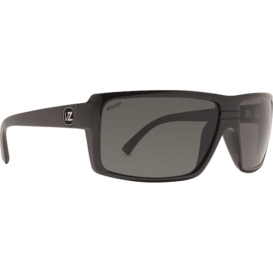 7bb3a73cf768 VonZipper - Snark Wildlife Polarized Sunglasses - Black Gloss/Vintage Grey
