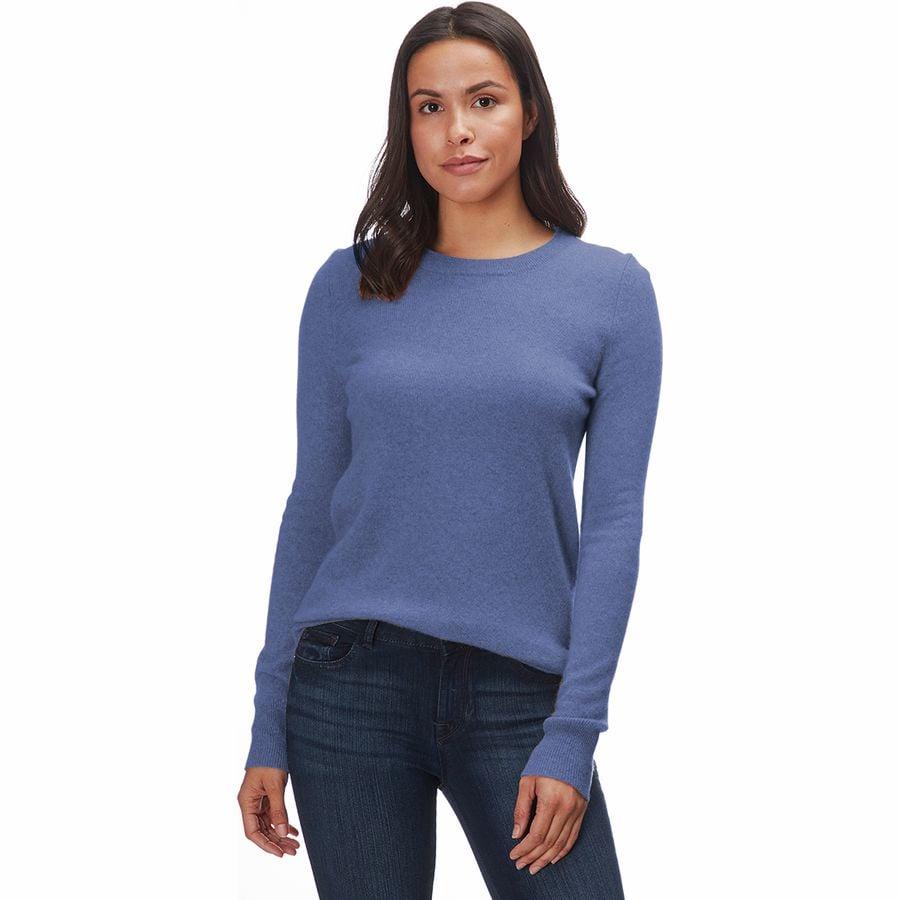 b5e45c1286 White + Warren - Essential Crewneck Sweater - Women s - Indigo Heather