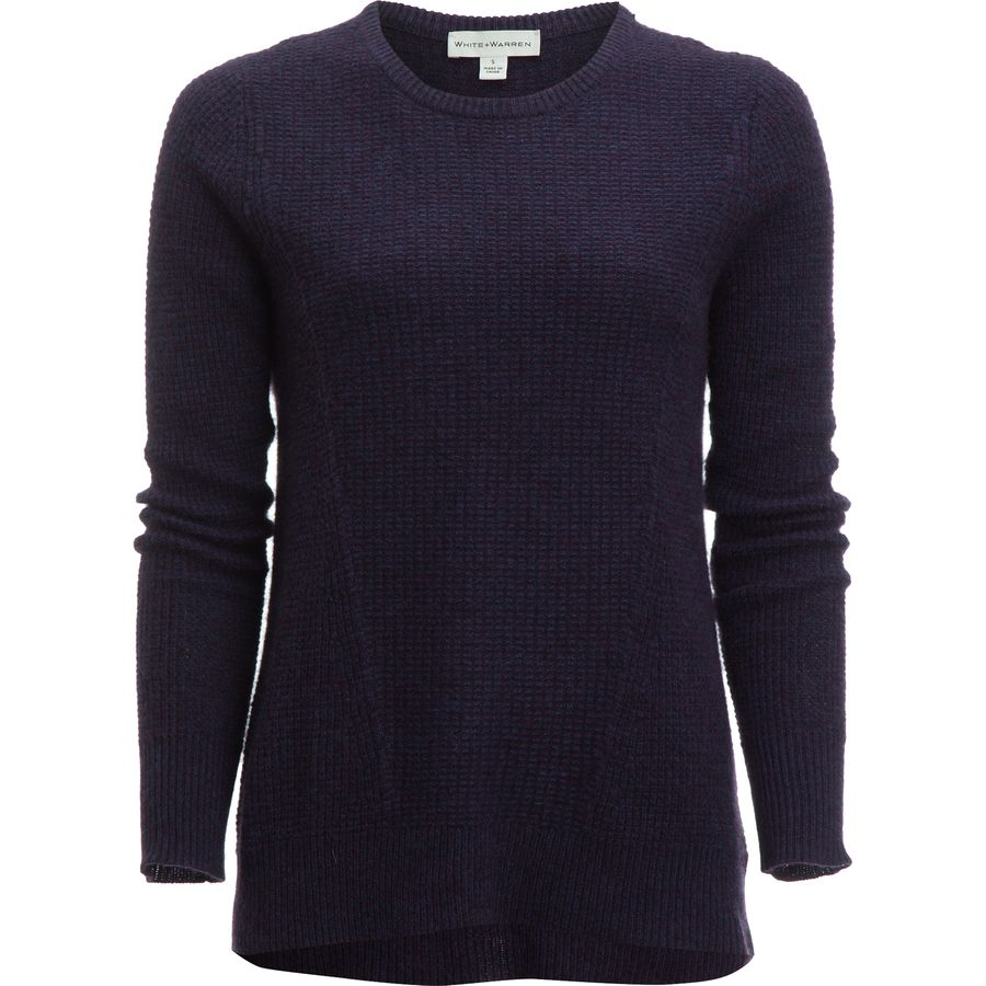 White + Warren Mixed Thermal Sweater - Womens