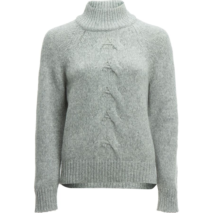 White + Warren Center Cable Standneck Sweater - Womens