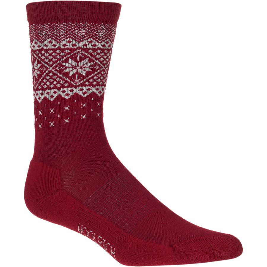 Woolrich Snow Flake Border Sock - Womens