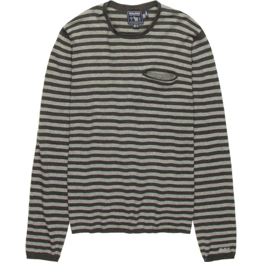 Woolrich Dry Slub Crew Sweater - Mens