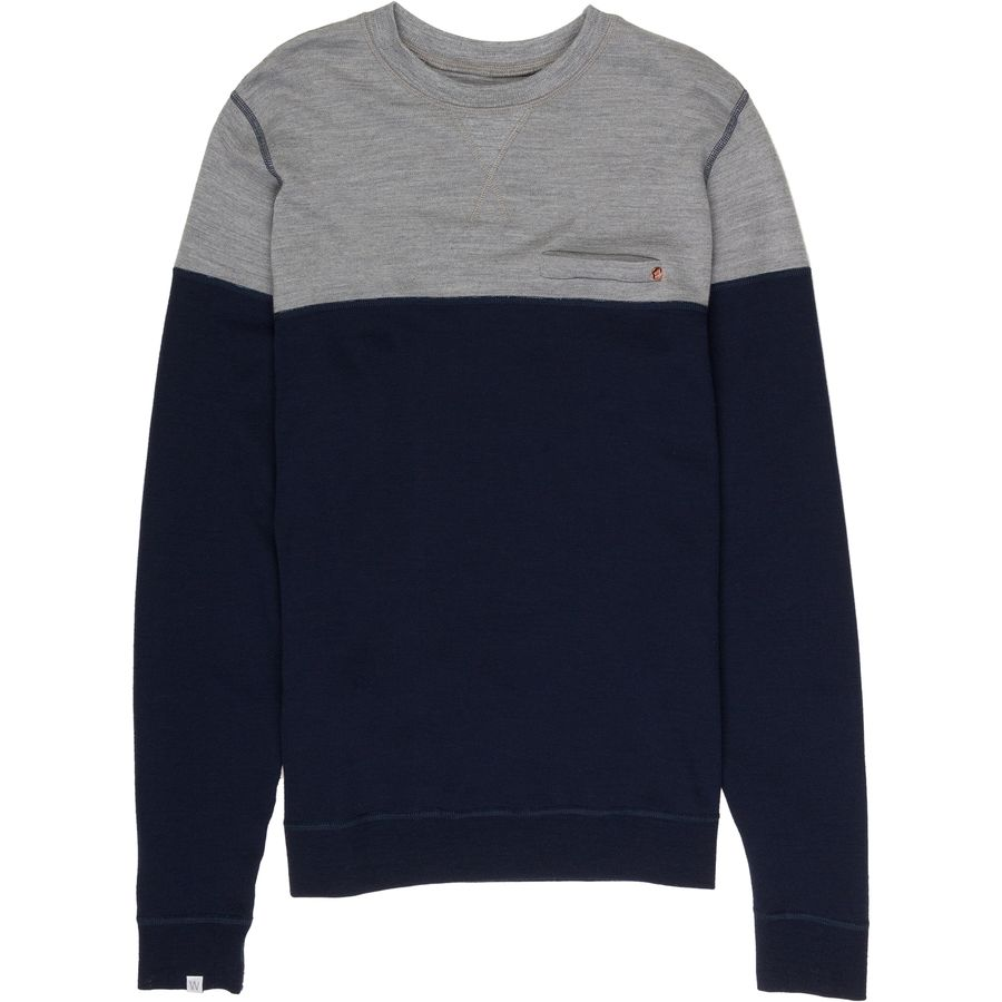 We Norwegians BaseTwo ColorBlock Crewneck Sweater - Mens