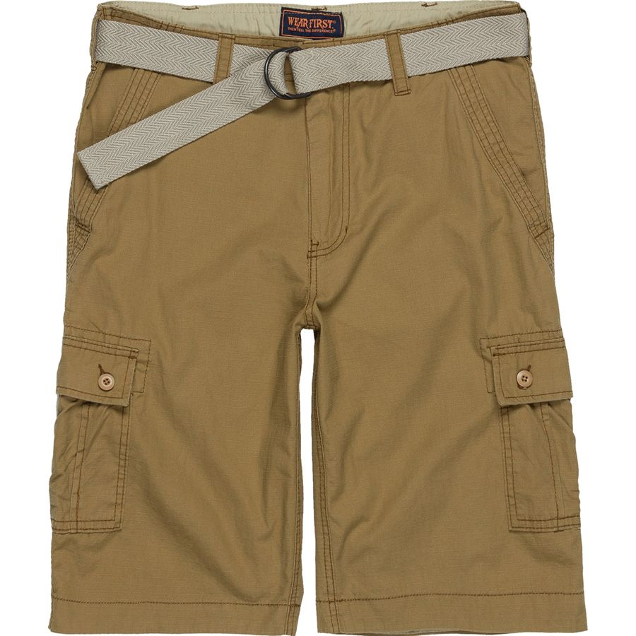 d23f0c3a7b Wearfirst Solid Cargo Short with Solid Belt - Men's   Steep & Cheap