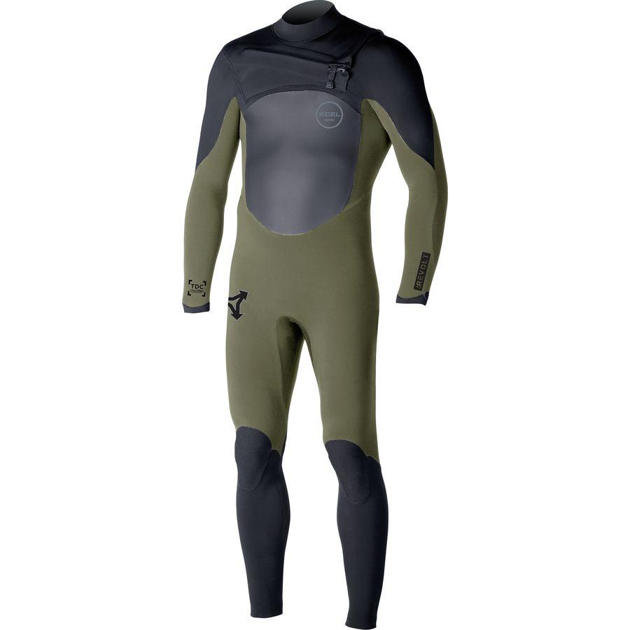 XCEL Hawaii 4/3 Revolt TDC Chest-Zip Full Wetsuit - Mens