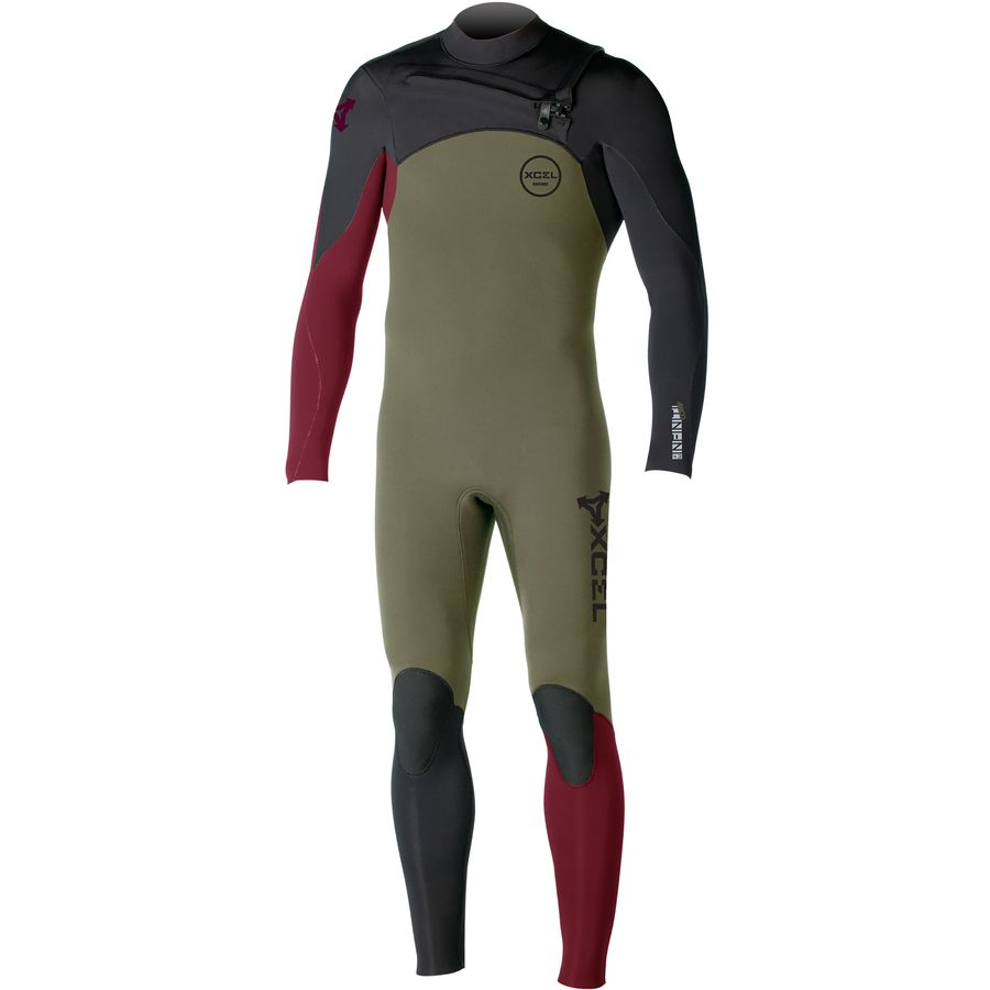 XCEL Hawaii Infiniti Comp 3/2 Chest-Zip Full Wetsuit - Mens