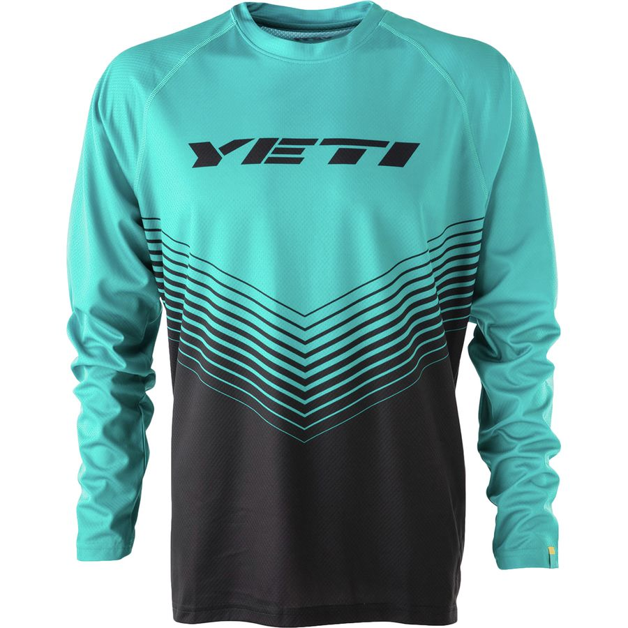 Yeti Cycles - Alder Long-Sleeve Jersey - Men s - Turquoise Black Dart Ombre bbb1c82e4