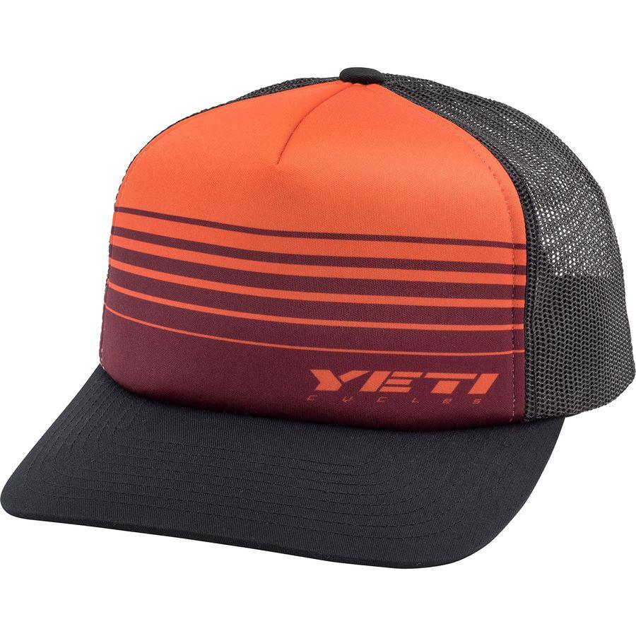 af2b0249ac1b2 Yeti Cycles - Race Stripes Foam Trucker Hat - Orange Black