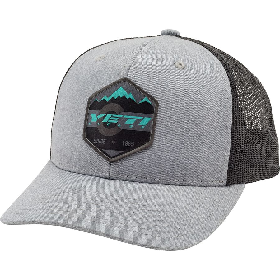 f665dc285ed0d Yeti Cycles - Mountain Patch Trucker Hat - Grey Black