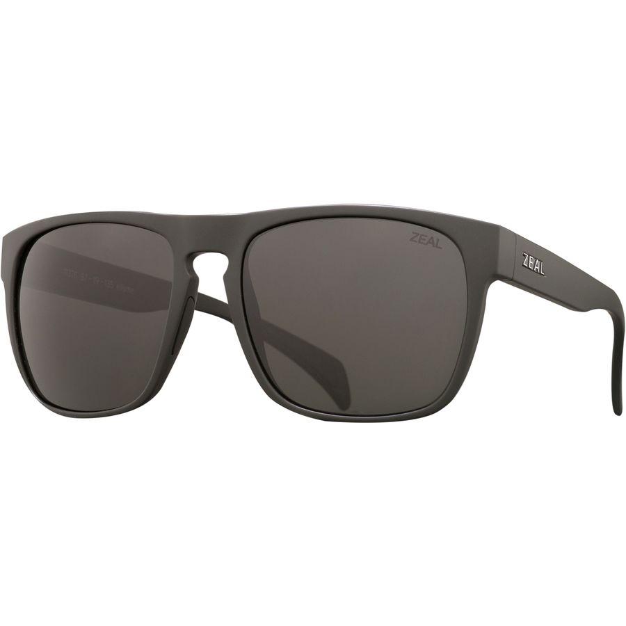 64ddc38ce3 Zeal - Capitol Polarized Sunglasses - Matte Black Dark Grey
