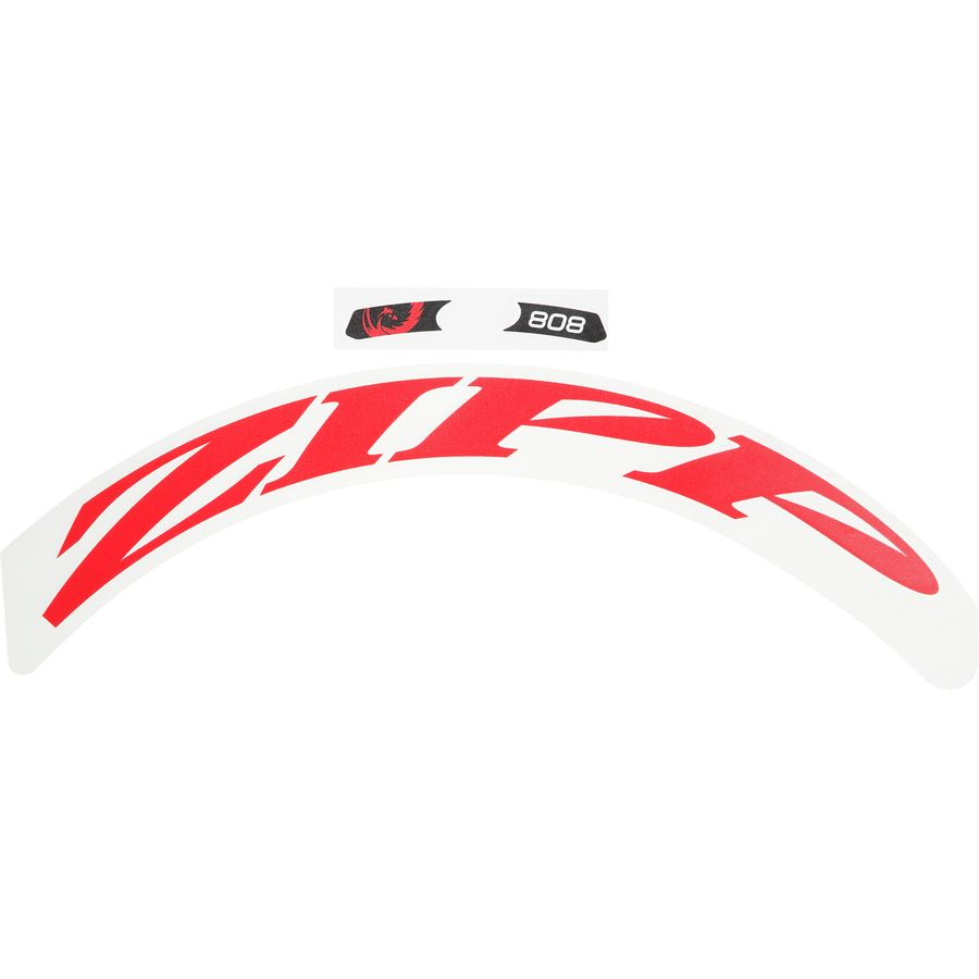 Zipp decal set for 808 disc matte red