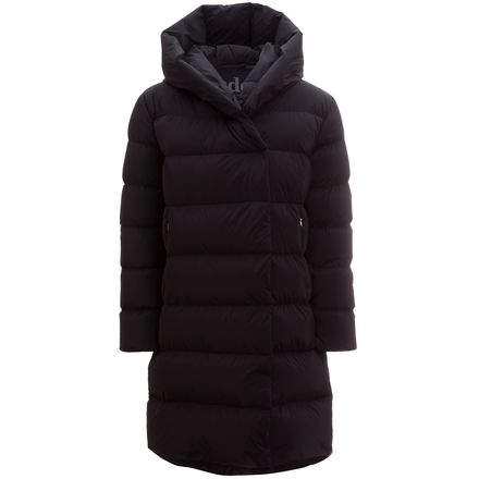 ADD Down Long Hooded Wrap Collar Coat - Women's