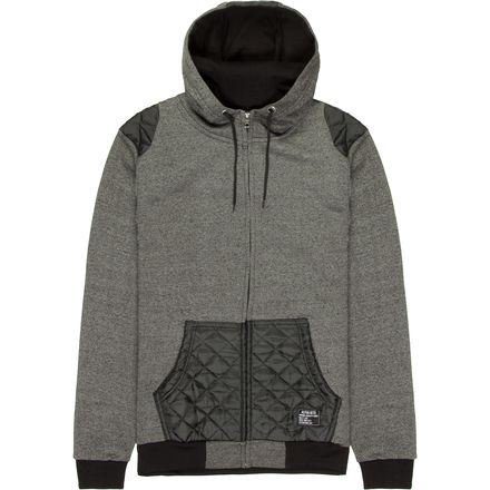 Alpha Beta Full-Zip Hooded Jersey Lined Hood with Quilted Detail - Men's