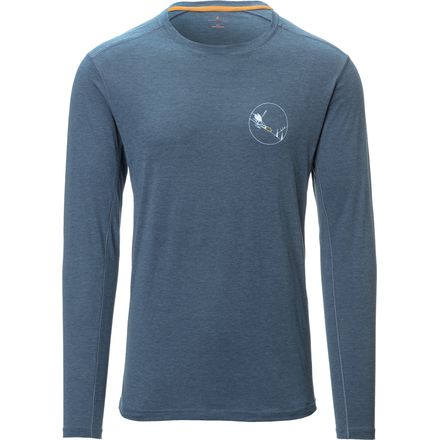 Basin and Range Graphic Pipeline Performance Long-Sleeve Shirt - Men's