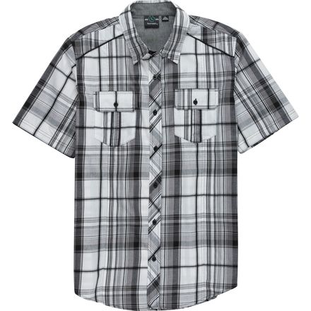 Burnside Short-Sleeve Button-Down Plaid Shirt - Men's