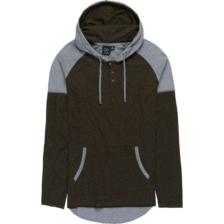 Burnside Shady Button Front with Contrast Patch Pocket Trim and Shoulder Hoodie - Men's