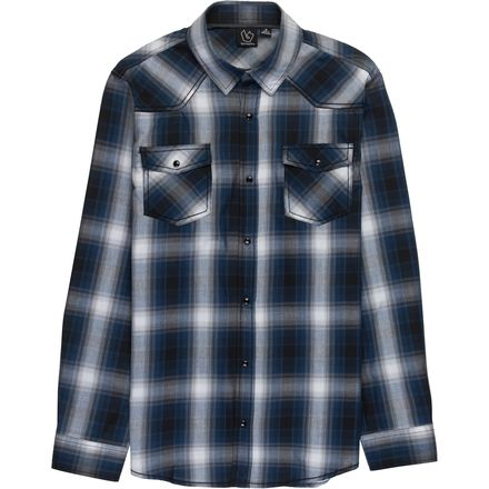 Burnside Razor Woven Plaid Long-Sleeve Shirt - Men's