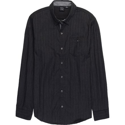 Burnside Charlie Woven Solid Long-Sleeve Shirt - Men's