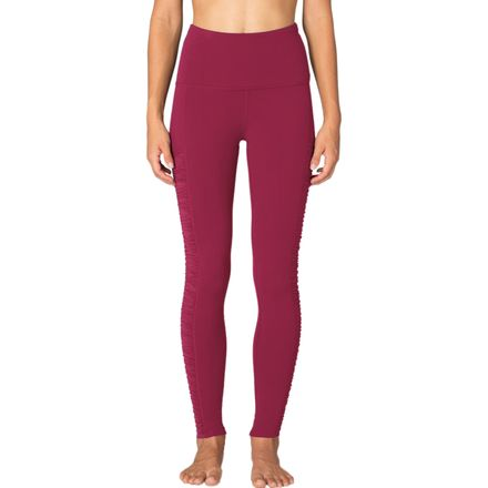 Beyond Yoga Sleek Stripe Shirred Leggings - Women's