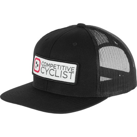 Competitive Cyclist Logo Flat Bill Trucker Hat
