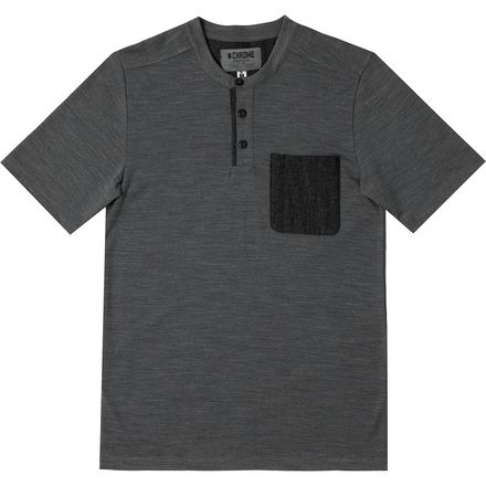 Chrome Henley Merino T-Shirt - Men's