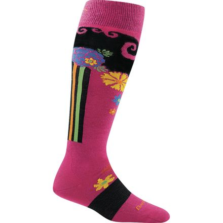 Darn Tough Flowers Light Over-The-Calf Sock - Women's