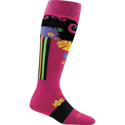 Darn Tough Flowers Merino Wool Over-The-Calf Cushion Sock - Women's