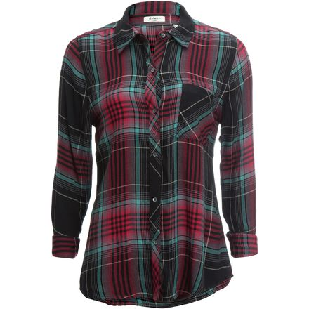 Dylan Cassidy Rayon Plaid 1 Pocket Shirt - Women's