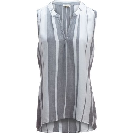 Dylan Taylor Centered Stripe Sleeveless Hi-Lo Tunic - Women's