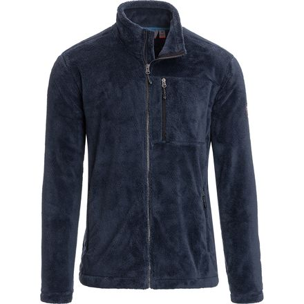 Free Country Solid Fleece Jacket with Front Zipper Pocket - Men's
