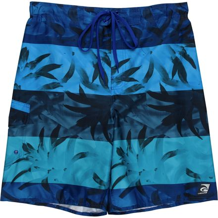 Laguna Fern Print Stripe Boardshort - Men's