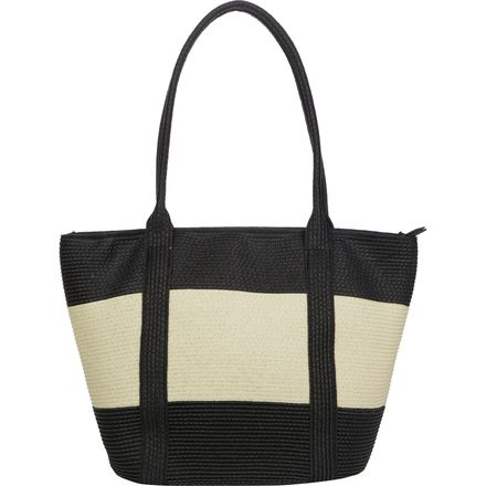 Magid Straw Wide Stripe Tote - Women's