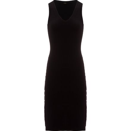 Monrow Side Slit V-Neck Dress - Women's